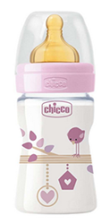 Chicco Biberon Ben 0m+ 150 ml. caucciù col ass