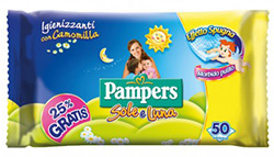 Pampers salviettine sole e luna da 50 pz.